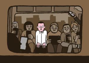 seul dans le metro