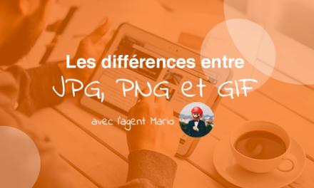 Les formats d'images web : JPG, PNG et GIF
