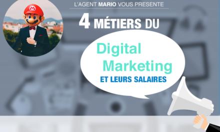 4 métiers du digital marketing et leurs salaires